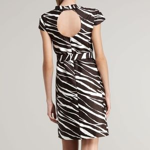 KATE SPADE DOROTHY ZEBRA DRESS ~ 6 ~ SILK FABRIC
